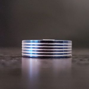 Other - 5️⃣For2️⃣5️⃣ Blue Silver stainless steel ring NWT